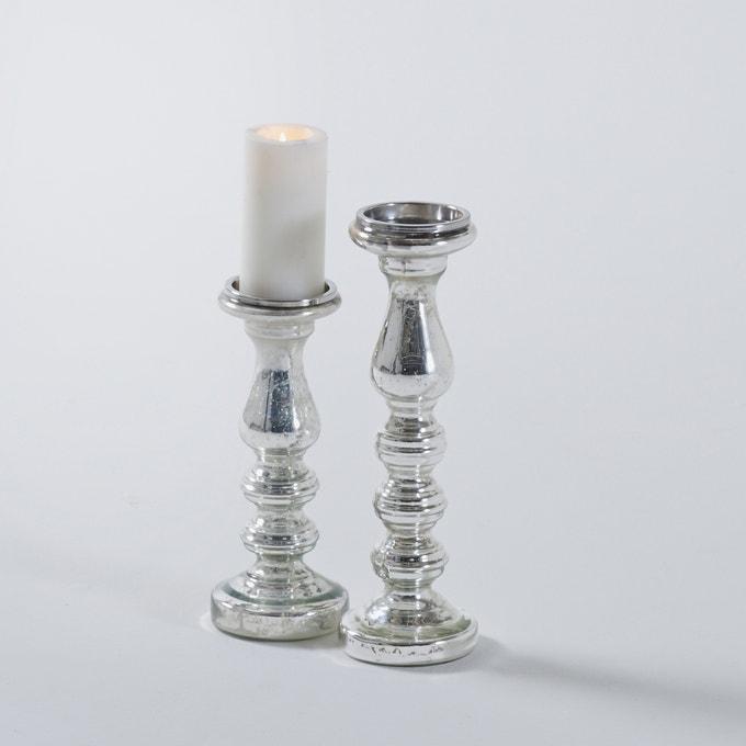 Lote de dos candelabro