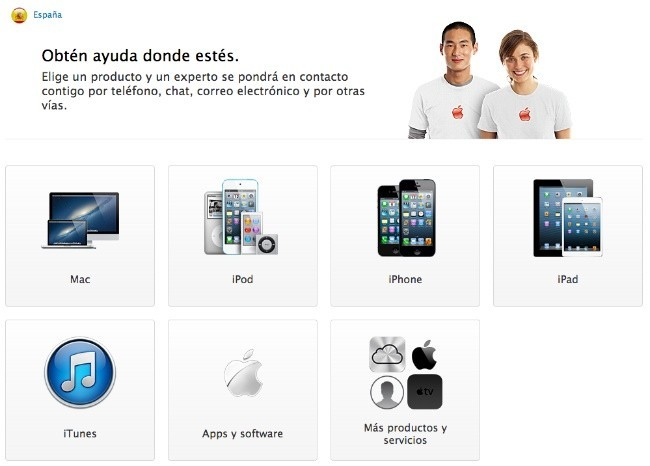 web apple care españa