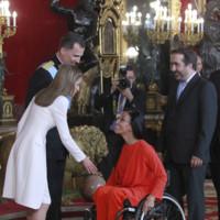Teresa Perales recepcion Felipe VI Letizia