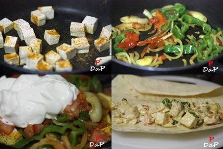 Hacer tortillas de tofu