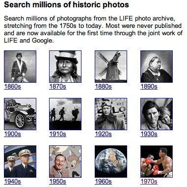 El archivo de LIFE en Google Image Search