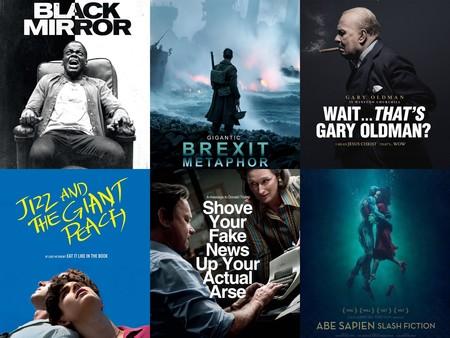 """No podían faltar: aquí están los divertidos carteles """"sinceros"""" de las películas de los Óscar 2018"""