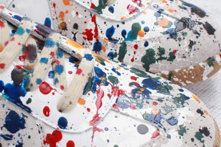 Zapatillas de Maison Martin Margiela salpicadas de pintura
