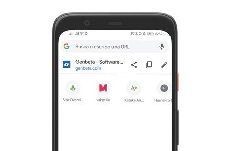 Google Chrome en Android prepara enlaces a las webs que más visitas en la barra de direcciones