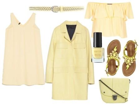 outfit amarillo limon