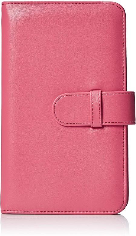 AmazonBasics - Álbum tipo billetera para 108 fotos Instax Mini, color rosa flamenco