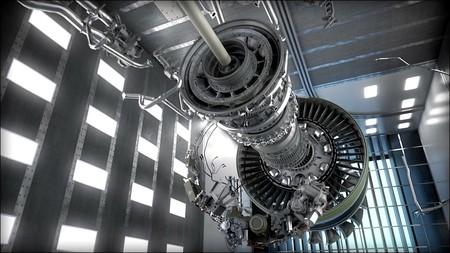 Este nuevo motor es tan grande que tiene el tamaño del fuselaje de un avión