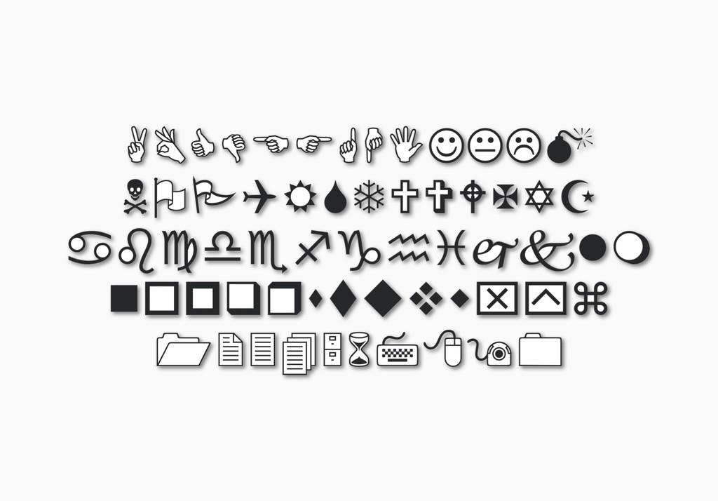En los años 90 Microsoft tenía sus propios emojis: de este metodo brotó la tipografía Wingdings