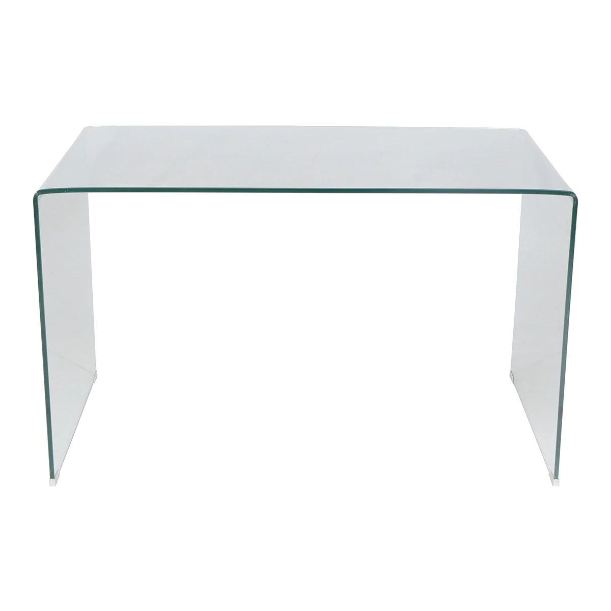 Mesa de escritorio de cristal templado Shiny El Corte Inglés