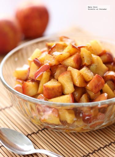 Manzanas fritas con miel y canela. Receta