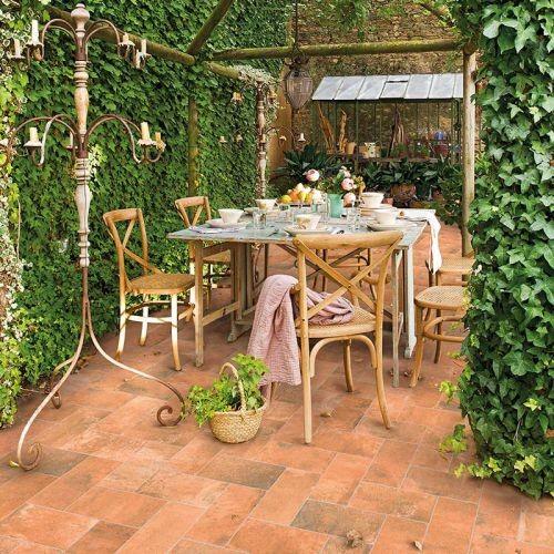 Rosa Gres Terrazas Garden Rojo Cuadradorect
