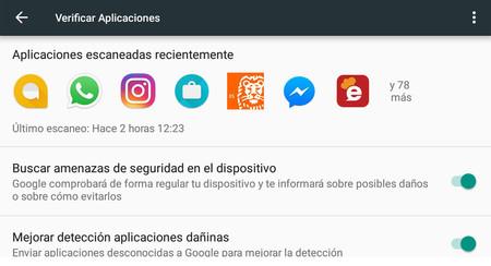 Así puedes ver qué aplicaciones ha analizado Google en tu móvil en busca de malware