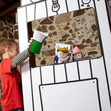 Teatro y títeres de cartón para decorar y jugar