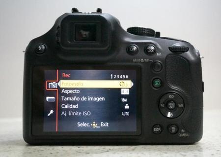 Panasonic Lumix FZ72 Interfaz