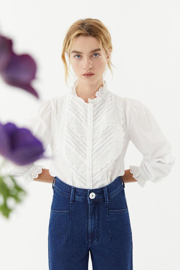 Camisa romántica de algodón de Hoss Intropia