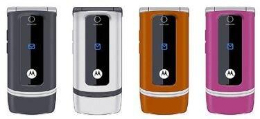 Motorola W375, nuevos móviles con diseño y colorido