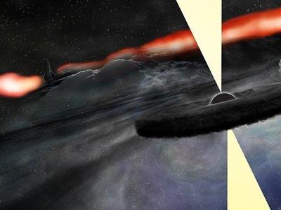 Orbitando el agujero negro de Cygnus A ha aparecido un objeto brillante