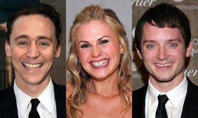 Tom Hiddleston, Anna Paquin y Elijah Wood en 'Black Wings Has My Angel'