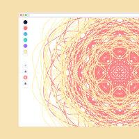 Esta web para crear mandalas te invita a relajarte mientras das vida a obras geométricas y coloridas