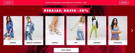 Rebajas de hasta el 50% en la Mid Season Sale en Asos. Envío gratis en pedidos de más de 24,99 euros