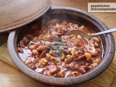 Receta de guiso de pulpo con pasta