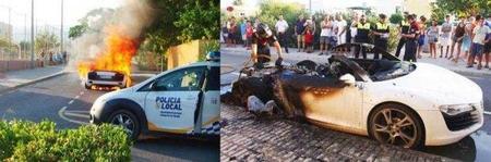 Dolorpasión™: Audi R8 robado y carbonizado