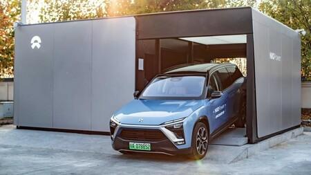 NIO Es8 cambio de baterías coche eléctrico chino