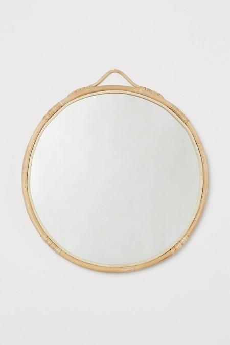 Espejo de ratán