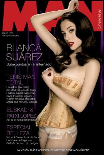 Blanca Suárez increíble para la revista Man