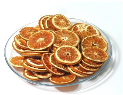 Más ideas para decorar con frutas: rodajas secas