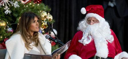 Melania Trump vuelve a elegir el color blanco en su último look