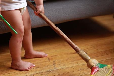 limpieza-con-niños