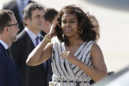 Michelle Obama ya está en Madrid y este ha sido su primer look