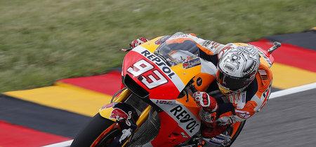 Marc Márquez vuela en el aguacero de Sachsenring y se hace con la pole de MotoGP