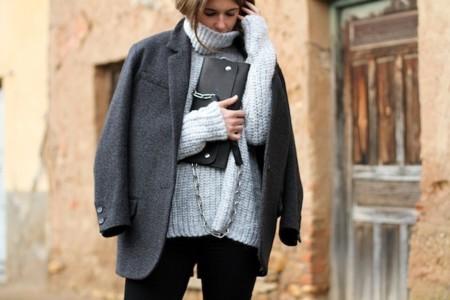 blazer abrigo gris