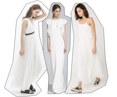 Vestido blanco flechazos del verano 2014
