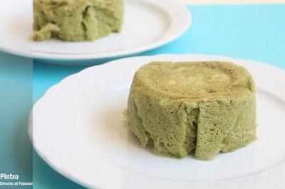 Bizcocho de té verde al microondas. Receta