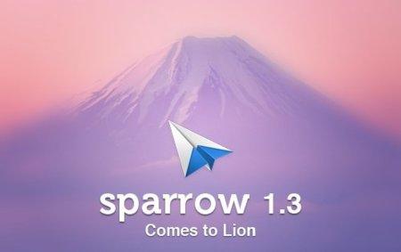 La versión 1.3 de Sparrow, lista para Lion con algunos cambios en la interfaz