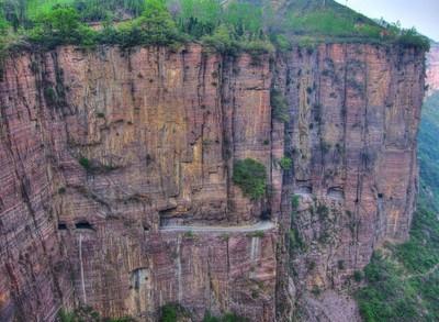 El túnel de Guoliang en China