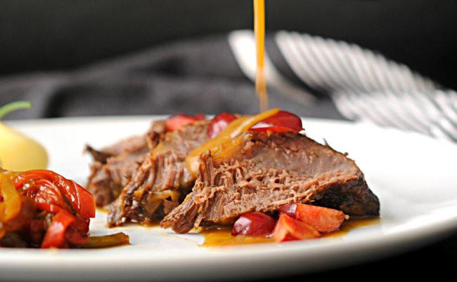 Carrilleras de ternera en salsa de cerezas: receta