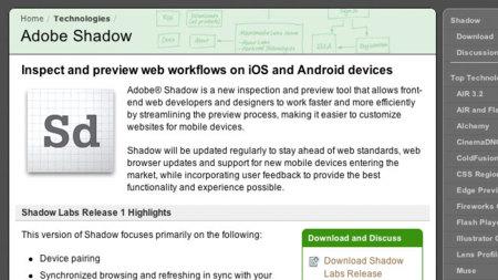 Adobe Shadow quiere ser el nuevo mejor amigo del desarrollador web móvil