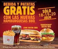 Bebida y patatas gratis al probar lo nuevo de Burger King: 18, 19 y 20 de julio