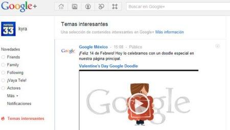 """Google+ permitirá a sus usuarios ajustar el contenido que verán en su stream proveniente de la sección """"What's Hot"""""""