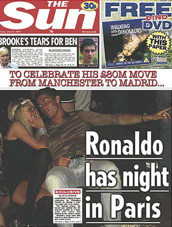 paris-hilton-y-cristiano-ronaldo-the-sun