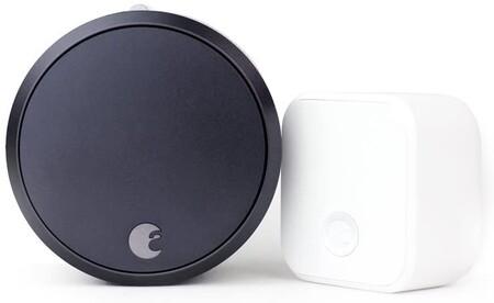August Smart Lock Pro Connect Wi Fi Bridge 3rd Gen Technology Dark Gray Works With Alexa Homekit Zwave