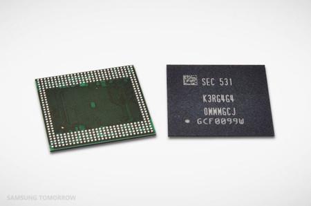 Samsung construye un chip con el que podremos tener hasta 6 GB de RAM en un móvil