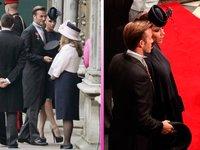 Pero qué monos los Beckham en la boda de Guillermo y Kate Middleton