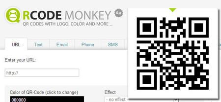 Crea tus códigos QR con la web QrCode Monkey