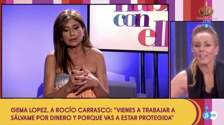 Rocío Carrasco y Gema López