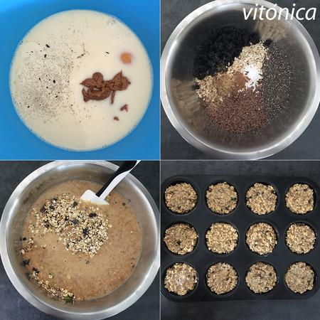 Muffins Avena Pasos